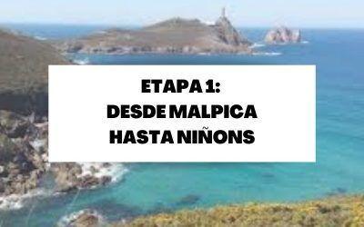 Primera etapa: Desde Malpica hasta Niñons (21,9 KM)